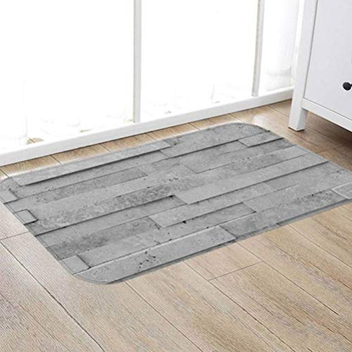 Tsavm Non Slip Carpet 3D Wood Grain Pattern Rugs Living Room Bedroom Decorative Pads Thickening Gray Floor Mats