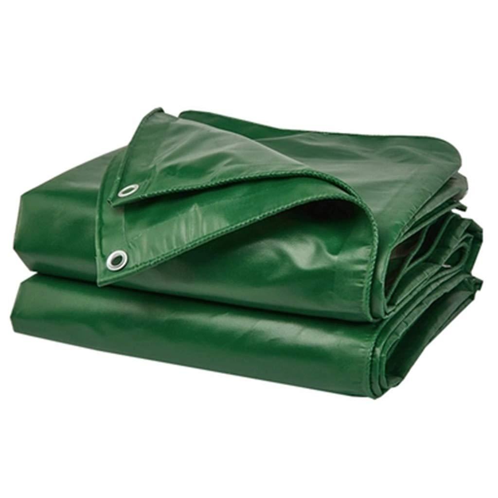 Plane Regenschutztuch Wasserdichte Sonnencreme-Plane Outdoor Padded Sunshade-Plane (Farbe   Grün, größe   4  5m)