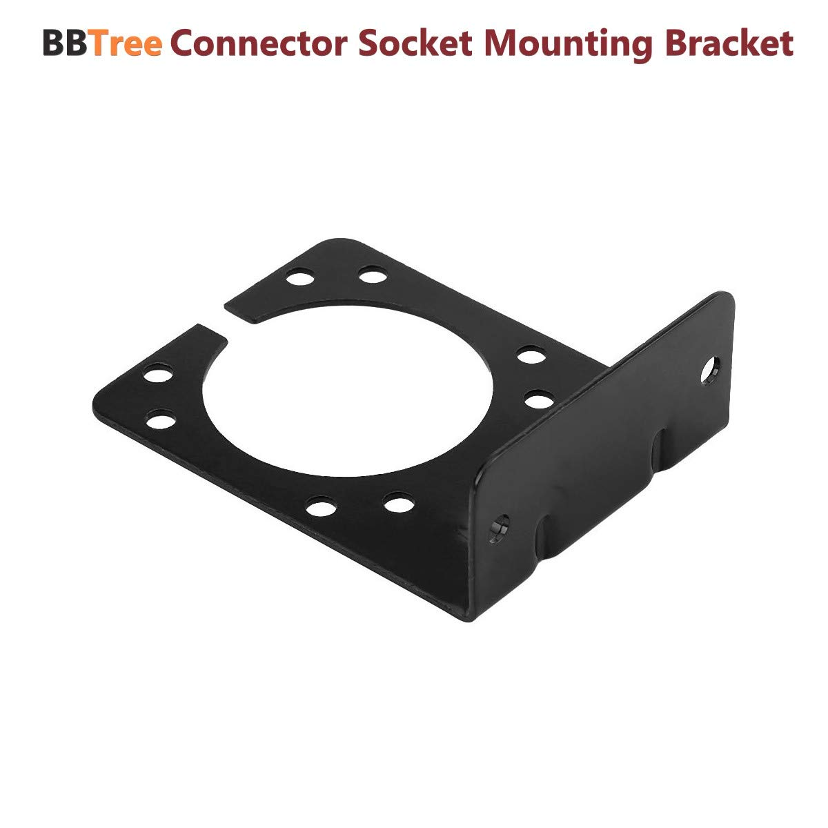 BBTree Connector Socket Mounting Bracket Right Angle Plug Socket Bracket for 7-Way Caravan Towing Trailer Connector T/&M