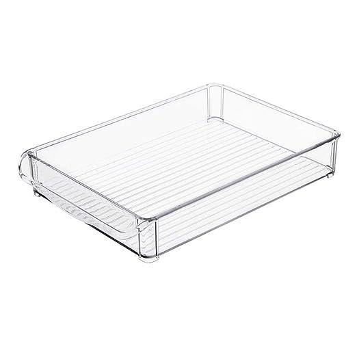 Biback - 2 Cajas de Almacenamiento de plástico para frigoríficos ...