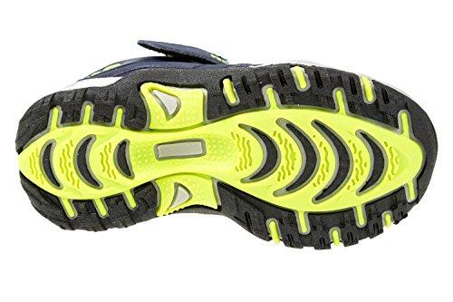 gibra - Zapatillas de Material Sintético para niño dunkelblau/neongrün