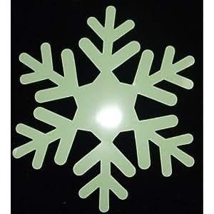 Copo de nieve resplandor en oscuro Iron-on transferencia Hotfix Patch
