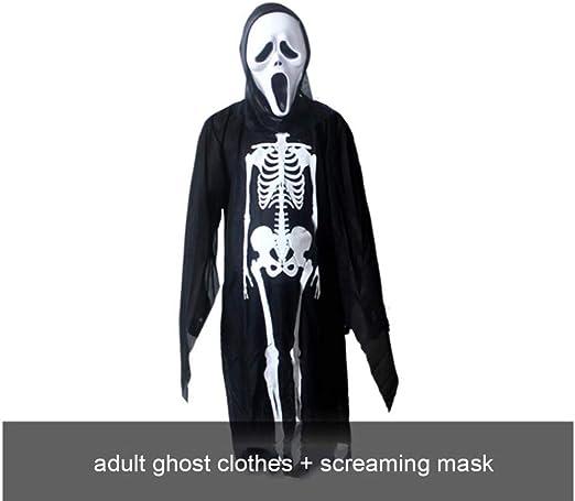 SPFAZJ Horror de niño Esqueleto Fantasma Traje Disfraces Disfraz ...