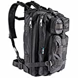 Tactical Backpack - Small Tactical Military Backpack Travel Day Pack Waterproof by Mavtek Innovative Tactics | Molle Multiple Compartments & Straps Hiking Camping Shooting Gear | Black by: Mavtek Innovative Tactics
