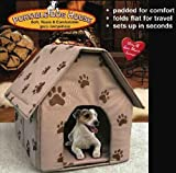 PORTABLE DOG HOUSE - Soft, warm and comfortable and goes everywhere(Assorted colors-Tan/Blue/Red)