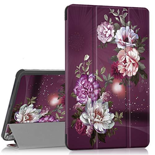 Hocase Galaxy Tab A 10.1 (SM-T510/SM-T515) 2019 Case , PU Leather Case with Cute Flower Design, Tri-Fold Stand Feature…