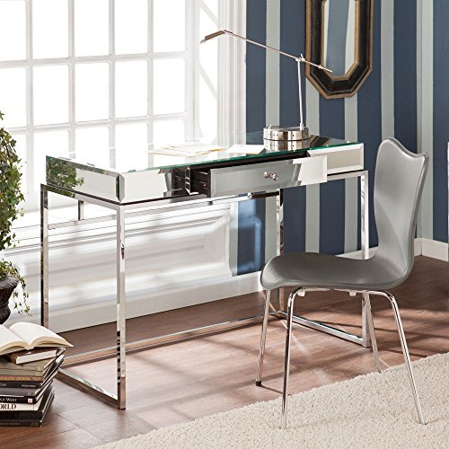 Writing Desk, Mirrored. This Writing Computer Desk Will Spruce up Your Work Space. Writing Desks Like This Are Guaranteed to Get Noticed. This Contemporary Writing Desk Is a Beautiful Addition to Office At Home, Entryway, or Any Room.