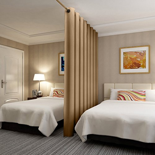 ChadMade Premium Heavyweight Room Divider Curtain In Khaki 5ft Wide x 8ft Height