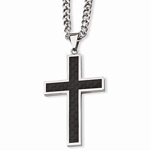 Stainless Steel Cross 24in Necklace