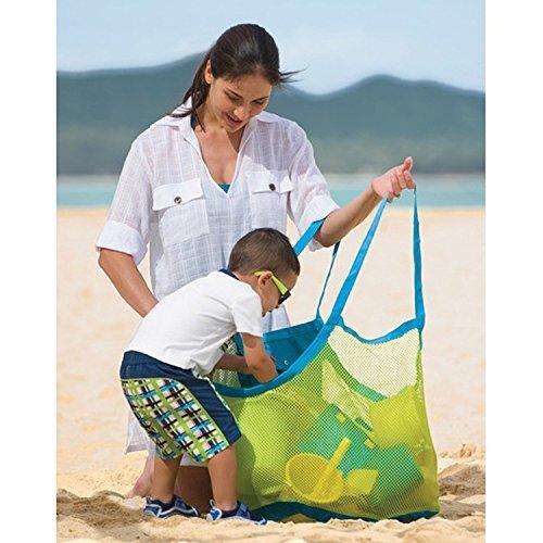 Kinder wasserdichte Strand Tasche Sand Weg Mesh Strandtasche Shopper 45 * 45cm