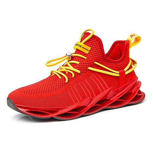 QZHIHE Mens Running Shoes Blade Sneakers Mesh Breathable Lightweight Tennis Walking Gym Shoes for Men