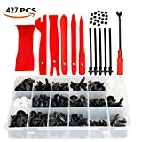 Car Retainer Body Clips Car Door Bumper Trim Clips Replacement Parts Clip Car Trim Removal Tool Set 6 Pcs with Fastener Remover for Car Dash Audio Radio Door Panel Window Molding Fastener Trim Removal Kits