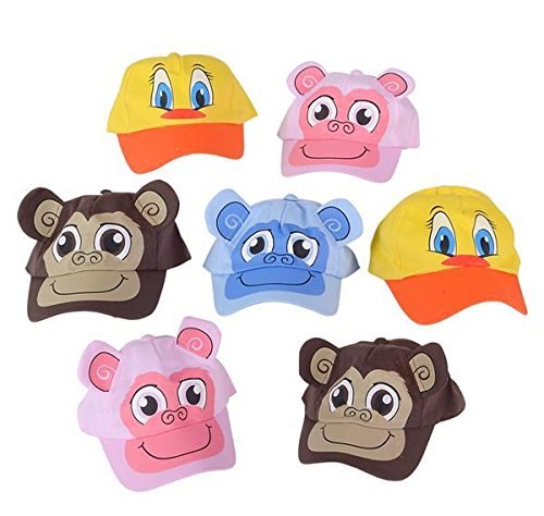 48 PC ANIMAL BASEBALL CAP ASSORTMENT, Case of 2 by DollarItemDirect