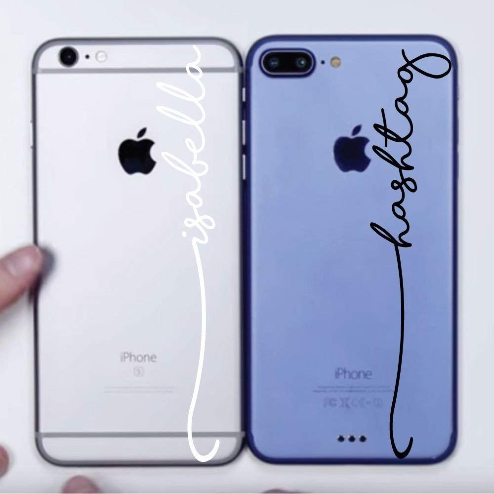 iPhone Decal Personalized Name Stickers - Apple Vinyl Word Art Decoration - Gift Present