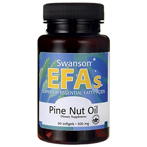 Swanson Pine Nut Oil 500 mg 60 Sgels