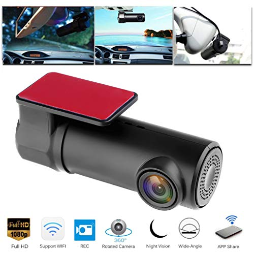 Blueseao Hidden Car DVR Camera, 1080P HD WIFI DVR Dash Camera Recorder Camcorder Night Vision