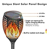 Solar Torch Lights with Flickering Flame, OxyLED Waterproof Solar-powered Garden Light Pathway Lighting for Halloween Christmas Garden Decor, Auto On/Off Torch Light for Patio Driveway Yard (4 Pack)