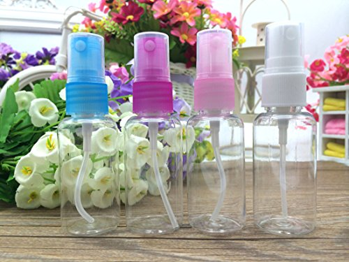 Flyusa 20 Pcs Portable Perfume Make up Clear Empty Spray Sprayer Bottle Cosmetic Atomizers PET Spray Bottles,10ml by Flyusa (Image #4)