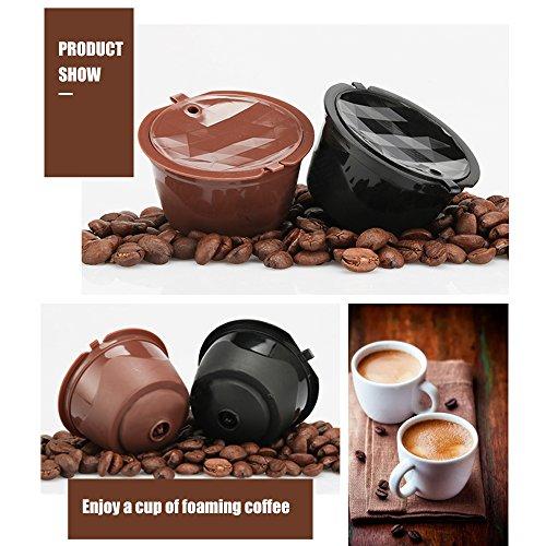 BRBHOM 6 Cups Refillable Dolce Gusto Coffee Capsule Reusable Coffee Pods for Nescafé Dolce Gusto Brewers | Compatible with Mini Me, Genio, Piccolo, Esperta and Circolo