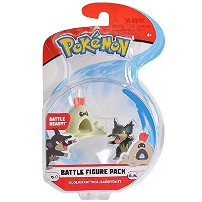 Pokemon 2 Inch Battle Action Figure  2-Pack, includes 2