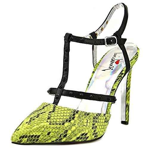 Luichiny Women's That A Girl Dress Shoe (9, Acid Yellow)