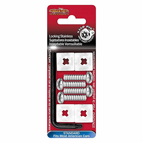 Cruiser Accessories 81230 Locking Fasteners, Domestic-Stainless