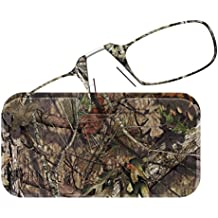 ThinOPTICS Reading Glasses + Universal Pod Case | Camouflage Collection, Mossy Oak Break-Up Country, 1.50 Strength, Lifetime Guarantee
