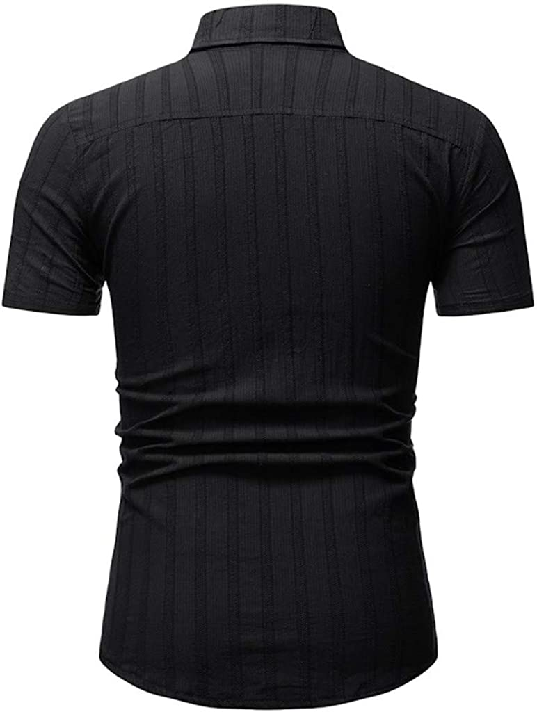 sweetnice man clothing Mens Short Sleeve Casual Shirt Slim Fit Fashion Button Down Dress Shirt Summer Performance Blouse