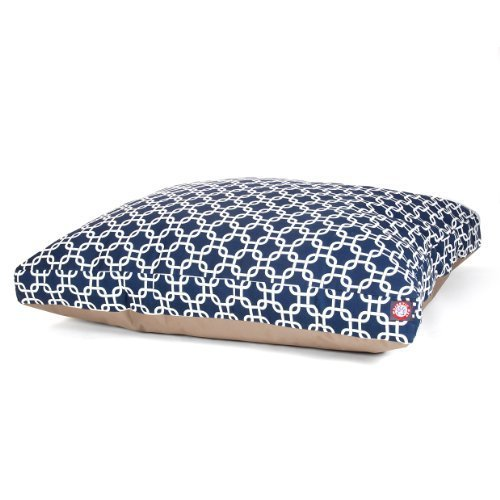 Majestic Pet Navy bluee Links Rectangle Pet Bed, Large by Majestic Pet Products, Inc.