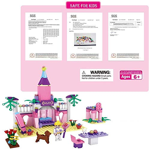 Dream Girls Building Blocks Toys King Prince Princess Pink Palace and Castle Building Sets for Boys and Girls Preschool Educational Toys 178 Pcs 3272