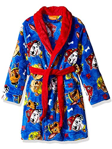 Nickelodeon Toddler Boys' Paw Patrol Luxe Plush Robe, Super Blue Crew, 2T