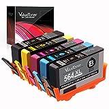 Valuetoner 564XL Remanufactured Ink Cartridges for 564 XL for Officejet 4620, Photosmart 5520 6520 7520 6515 5514 C410, Deskjet 3520 3522 Printer, 5 Pack (Black/Cyan/Magenta/Yellow/Photo Black)