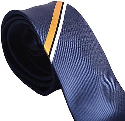 Y-WEIFENG Corbata de Regalo de Corbata Oblicua para Hombre, con ...