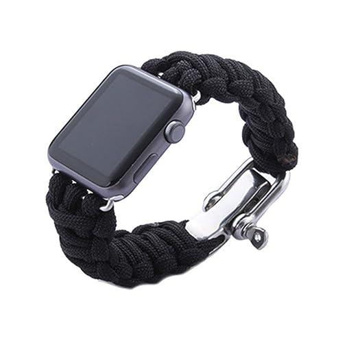 1 opinioni per Apple-Band, LiQi 7 fili Paracord 550, bracciale Loop-Cinturino con fibbia per