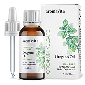 Gut Health Shop 51AZSu18eEL._SS300_ Aromavita Essential Oil of Oregano - 100% Pure Undiluted, Non GMO, Extra Strength Organic Greek Oregano Oil - Over 86…