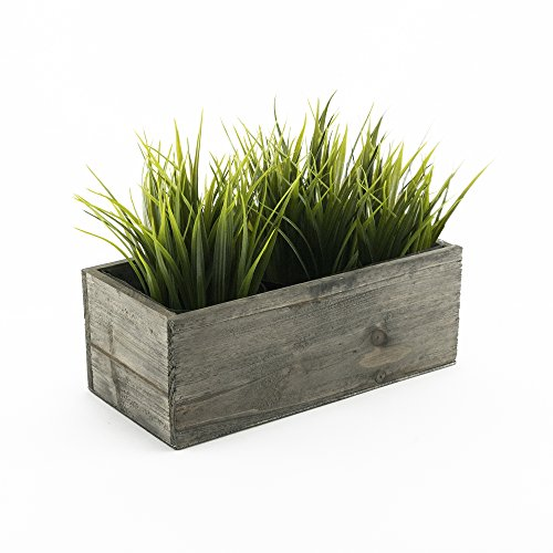 CYS EXCEL Indoor Rustic Planter Box, Available, Wood Planter, Decorative Box, Succulent and Floral Arrangements, Box with Removable Plastic Liner, H:4