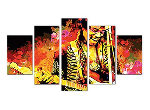 Jimi hendrix wall poster decoration print canvas 5 pieces