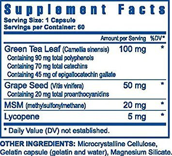 Ultimate OPC-T Antioxidants Green Tea Leaf and Grape Seed - 60 caps - 2 Pack