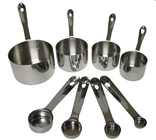 Industrial Kitchen Utensils: Professional Measuring Cups And Spoons Set For Your