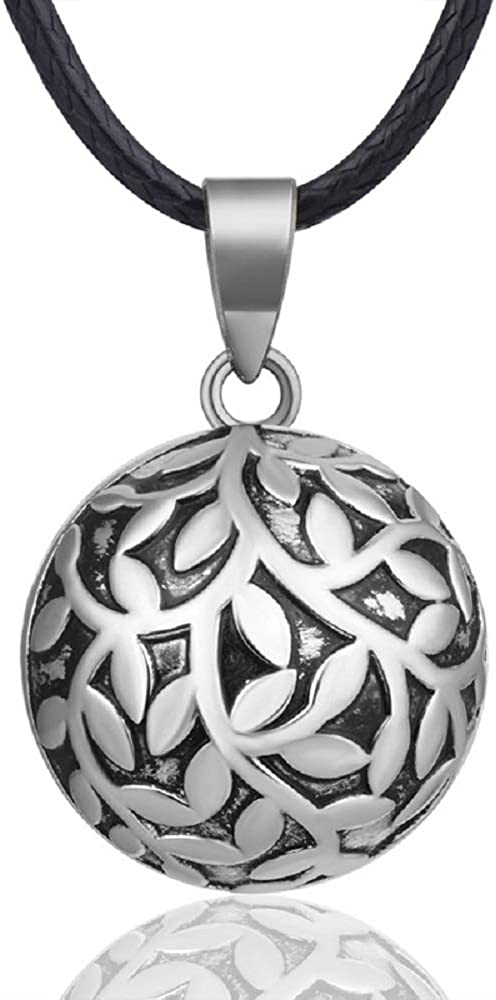 """EUDORA Harmony Ball Vintage Tree of Life Lucky Music Wishing Bola Chime Bell Necklace, Gift for Women/Pregnancy/Mother, 30"""" & 45"""" Long Cord"""