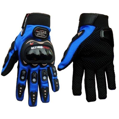Three colors optional Pro-Biker Bicycle Motorcycle Motorbike Powersports Racing Gloves (XXL, Blue)