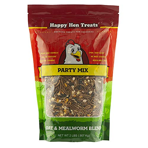 Happy Hen Treats Party Mix Mealworm and Oats, 2-Pound from Happy Hen Treats