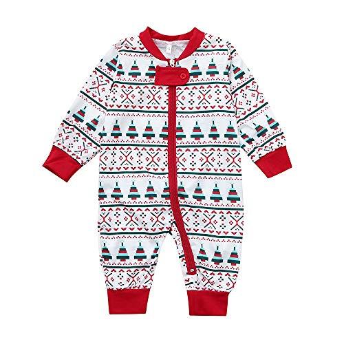 Tronet Christmas Family Pajamas Matching Cartoon Santa Print