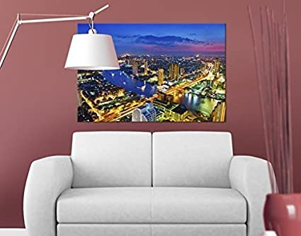 Stampa su tela Bangkok Skyline, quadri su tela,quadro su tela,quadri ...