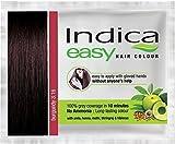 Nexxa 10 Pc Indica Easy10 Minutes Herbal Hair Color Shampoo Base Burgundy Herbs