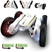 DE38 RC Stunt Cars,Remote Control Car for Kids,50 Mins Playing Time,4WD Double-Sided Racing Vehicles,Fancy Rot