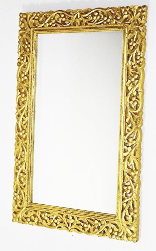 Buy Monica Hand Carved Wall Mirror Frame Online at Low Prices in ...