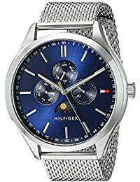 Men's 'OLIVER' Quartz Stainless Steel Casual Watch, Color:Silver-Toned (Model: 1791302)
