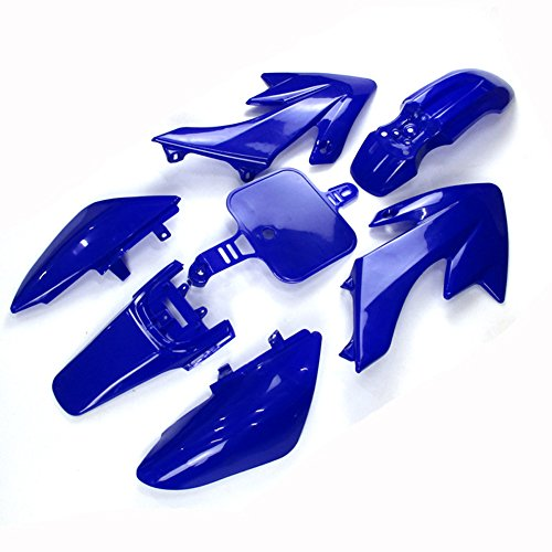 TC-Motor Blue Plastic Fender Fairing Kit For Honda XR CRF XR50 CRF50 50cc 70cc 90cc 110cc 125cc 140cc 150cc 160cc Dirt Pit Bike Piranha SSR Thumpsta Stomp Coolster Pitsterpro Braaap SDG -  CRF50-blue