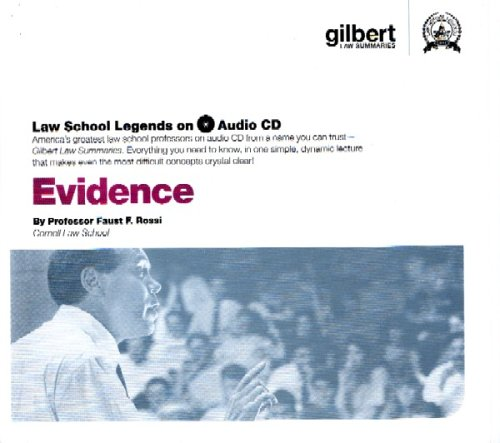 Law School Legends Evidence CD (Law School Legends Audio Series) by Rossi, Faust F.